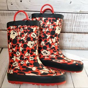 🖤Disney Mickey Mouse Western Chief Rain Boots S11